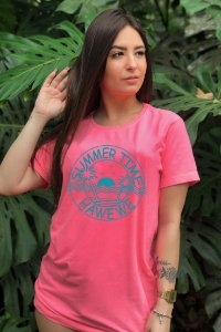 Camiseta Hawewe Summer Time Rosa