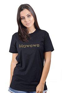 Camiseta Hawewe Animal Print Preta
