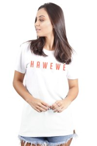 Camiseta Hawewe Branca Coral