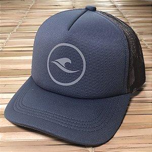 Boné Hawewe Surf Logo Trucker Cinza