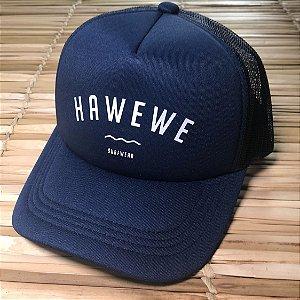 Boné Hawewe Surfwear Trucker Azul