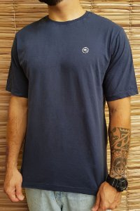 Camiseta Hawewe Mini Logo Azul Estonada