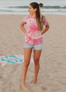 Camiseta Hawewe Single Wave Tie Dye Rosa