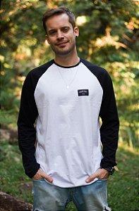 Camiseta Hawewe Manga Comprida Surfwear Raglan Preta
