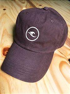 Boné Hawewe Dad Hat Logo Marrom