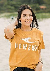 Camiseta Hawewe Title Mostarda