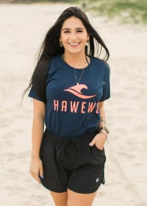 Camiseta Hawewe Title Marinho