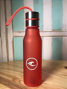 Squeeze Hawewe 600ml com Filtro e Alça de Silicone Vermelha