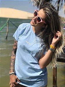 Camiseta Hawewe Mini Azul Estonada