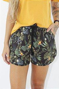 Shorts Hawewe Preto Tropical