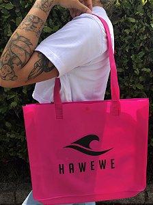 Kit Bolsa Hawewe e Necessarie Silicone Rosa