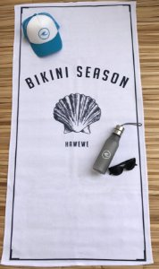 Toalha De Praia Hawewe Bikini Season Branca
