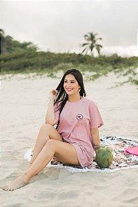 Vestido Hawewe Surf Logo Rosa Marmorizado