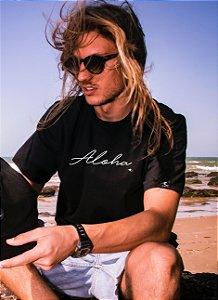 Camiseta Hawewe Preta Aloha Masculina
