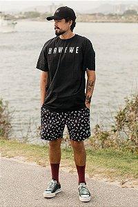 Camiseta Hawewe Surf Preta Masculina