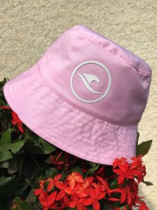 Bucket Hat Hawewe Logo Rosa
