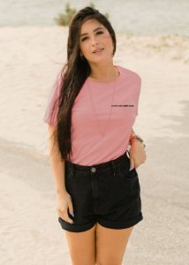 Camiseta Hawewe Rosê Surf & Co Feminina
