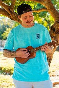 Camiseta Hawewe Masculina Sea Leaf Azul Caribe