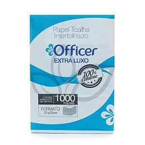 Papel Toalha Interfolhado Officer Extra Luxo c/ 1000 folhas - 23x21