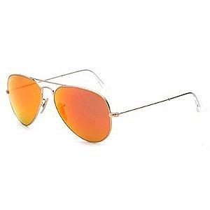 Óculos de Sol Ray-Ban® - RB3025 - 112/69 - Aviador Flash Lenses
