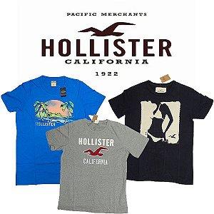Camiseta Hollister Co. - tamanho GG