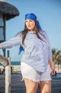 Camisa chatte plus size