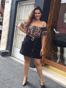 Body ciganinha estampado plus size