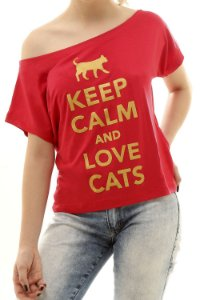 Blusa Keep Calm And Love Cats