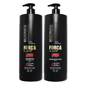 Kit Shampoo E Condicionador Força Com Pimenta 1l - Bio Extratus