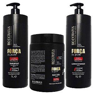 Bio Extratus Força com Pimenta Shampoo 1L + Condicionador 1L + Máscara 1Kg