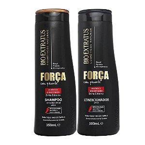 Kit Shampoo E Condicionador Força Com Pimenta 350ml - Bio Extratus