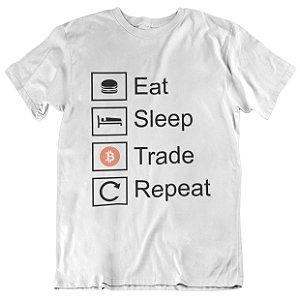 Camiseta Tradicional Bitcoin Trade - Branca