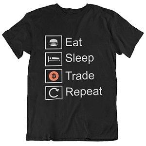 Camiseta Tradicional Bitcoin Trade - Preta