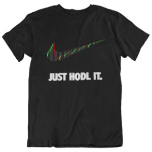 Camiseta Just Hodl It - Preta