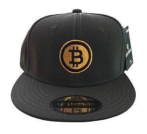 Boné Bitcoin Liberty Aba Reta - Cinza chumbo