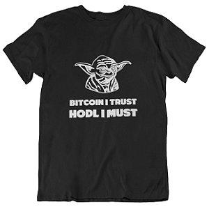 Camiseta Bitcoin Yoda - Preta