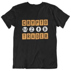 Camiseta Crypto Trader Moedas - Preta