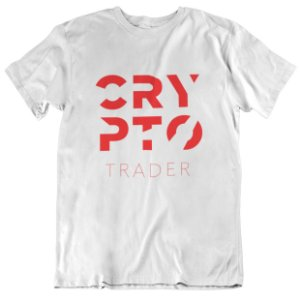 Camiseta Crypto Trader Style - Branca