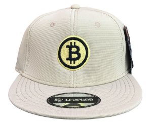 Boné Bitcoin Legendary Aba Reta - Bege