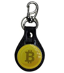 Chaveiro de couro Bitcoin