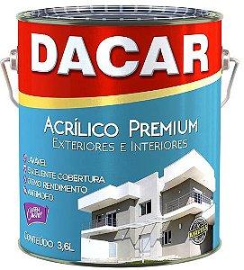 Tinta Acrílica Premium Fosco Branco Neve 3,6 L Dacar