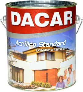Tinta Acrílica Standard Fosco Branco Neve 3,6 L Dacar