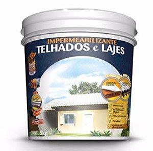 Impermeabilizante Elastomérico Redutor de Calor para Telhados e Lajes 16 Kg Hydronorth