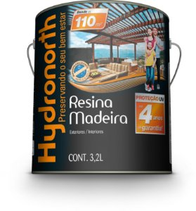 Resina Madeira 3,2 L Incolor Brilhante Hydronorth