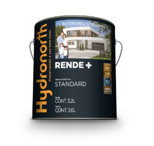 Tinta Acrílica Standard Fosco 80 m² Rende Mais 3,6 L Hydronorth