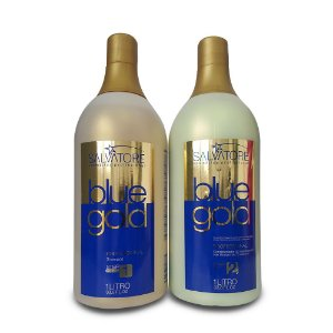 Salvatore Escova Progressiva Alisante Blue Gold 2x1000ml