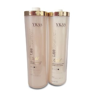 Ykas Liss Treatment Gold Escova Progressiva Redutor de Volume Queratina e Creatina 1000ml