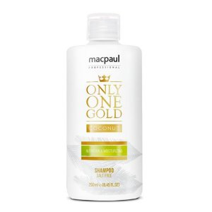 MAC PAUL ONLY ONE GOLD COCONUT SHAMPOO NUTRIÇÃO 250ML