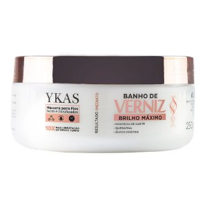 Ykas Banho de Verniz Brilho Máximo Máscara 250g