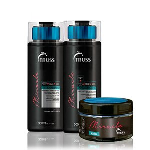 TRUSS MIRACLE KIT SHAMPOO, CONDICIONADOR E MÁSCARA 300ML